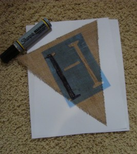 Step 3 for DIY burlap banner