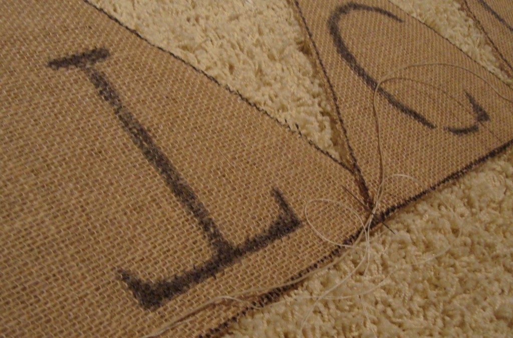 Easy DIY Burlap Banner Step 4