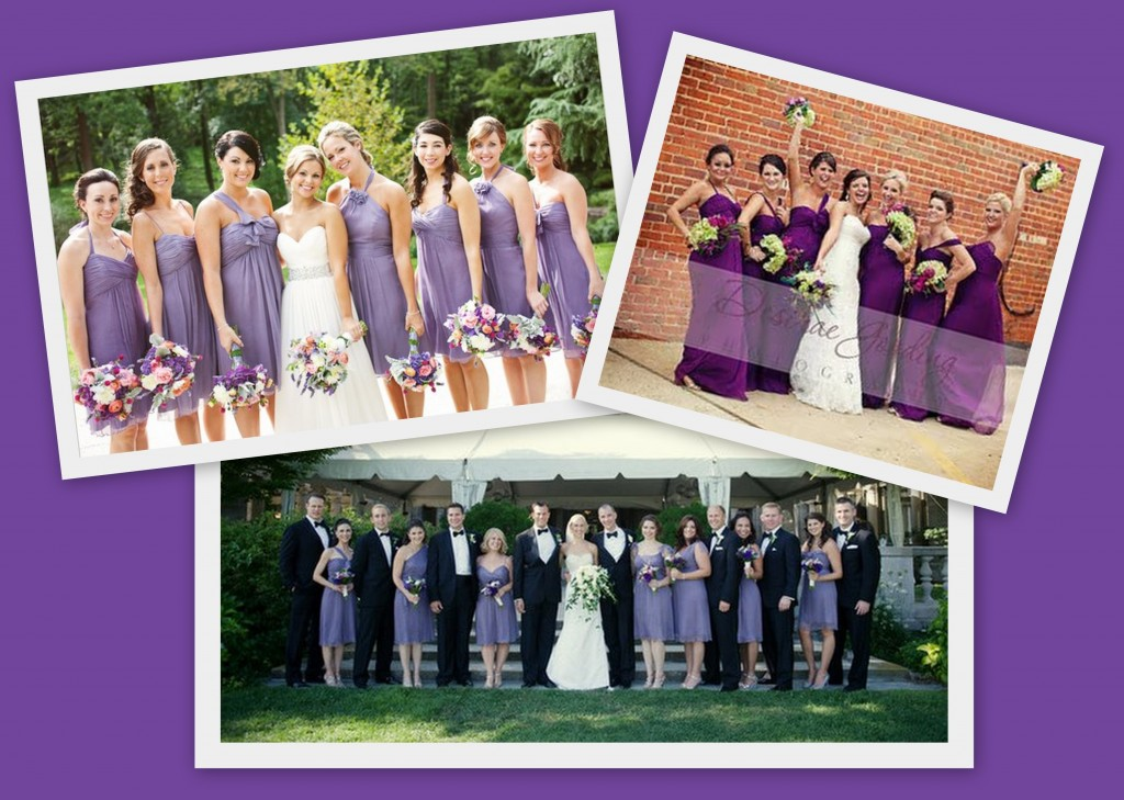 Purple bridesmaid dresses available at Ready or Knot {Wedding Chic}