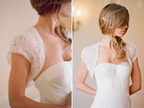 Stay fun and flirty with a wedding shrug by Ivy & Aster