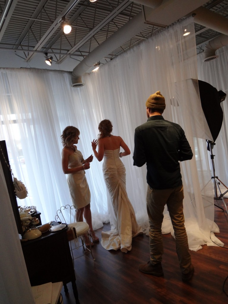 Behind the Scenes from Ready or Knot's style shoot for weddings in Rockbrook Village