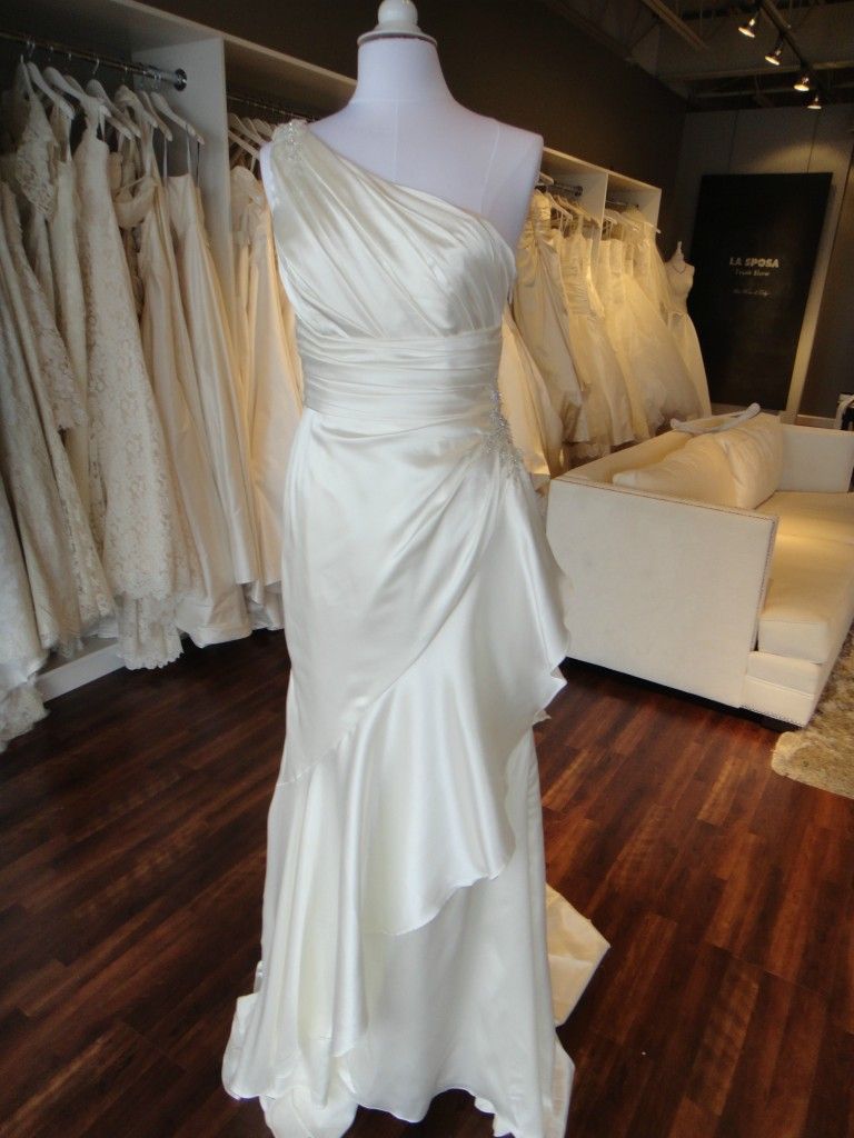 Fun and light La Sposa wedding gown available at Ready or Knot