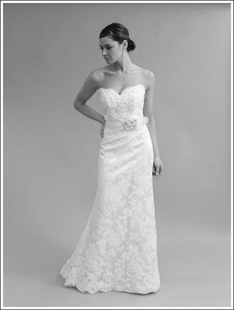 Sheath/Column wedding dress by Modern Trousseau available at Ready or Knot