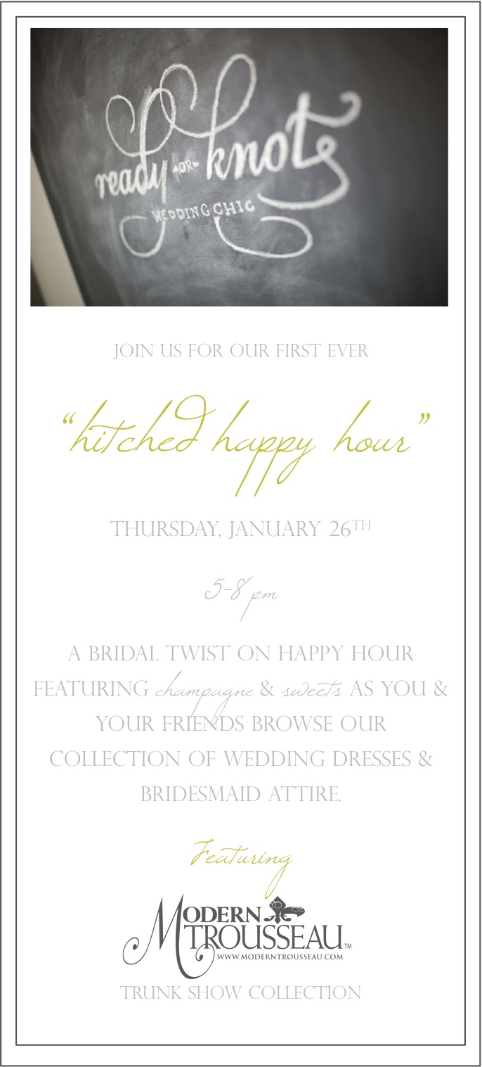 """hitched happy hour"""