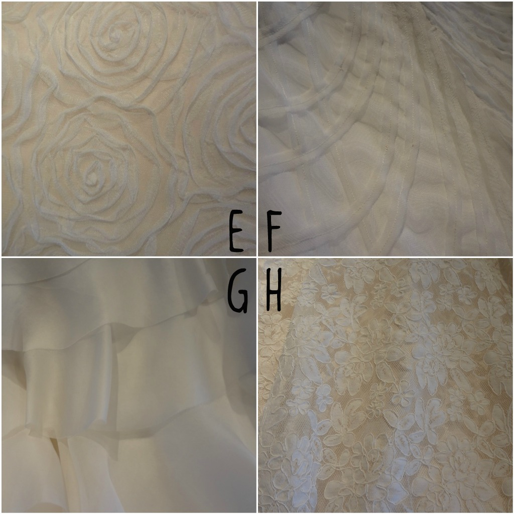 Wedding dress fabric detail