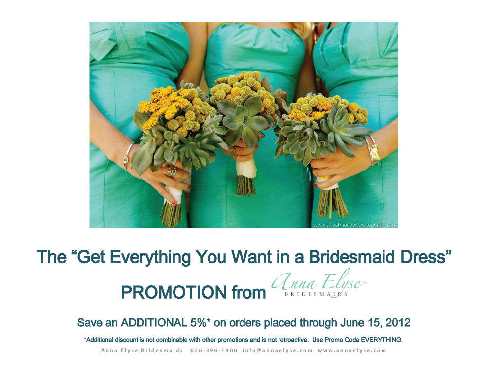 May Bridesmaid dress Promo