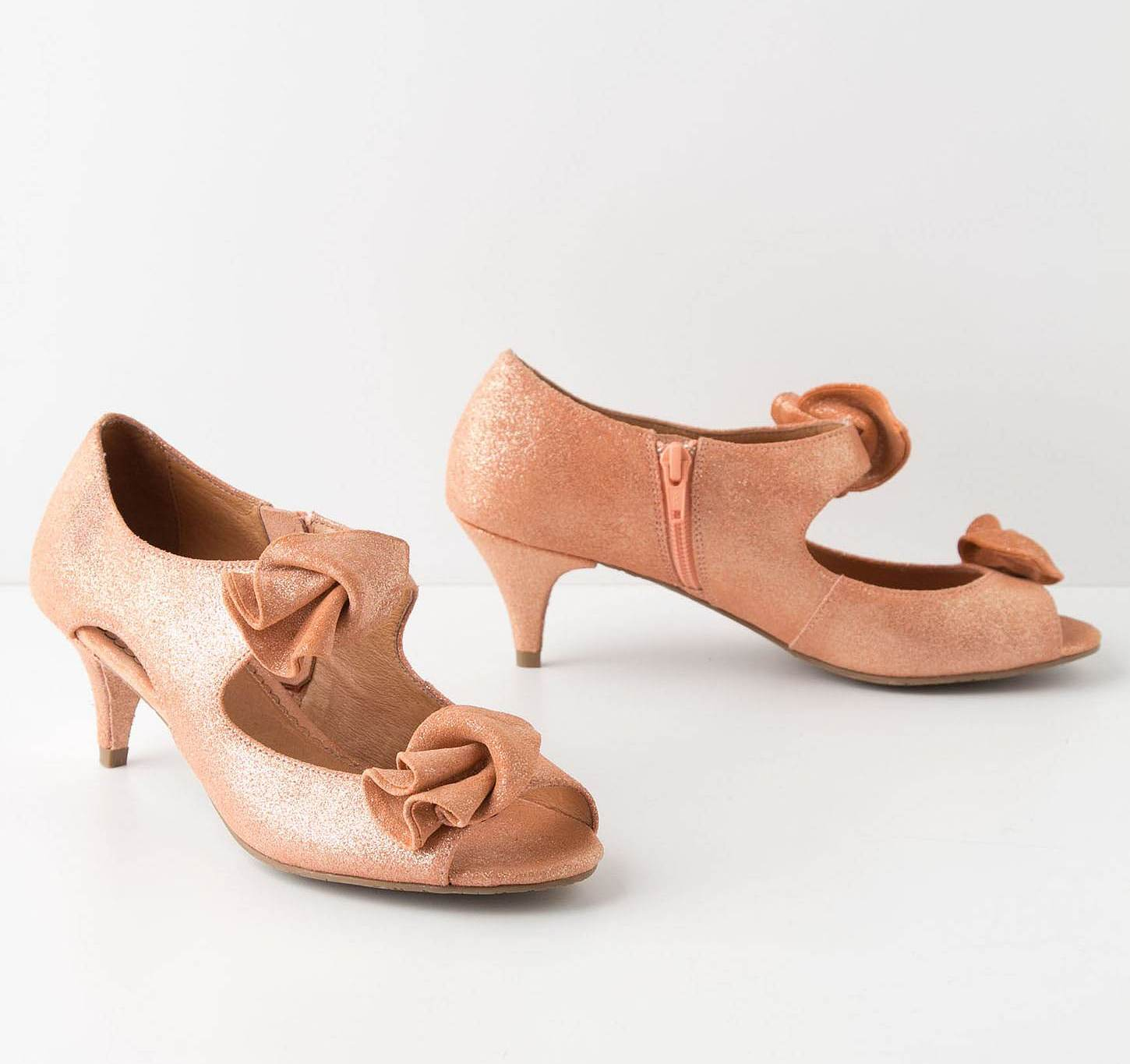 Satin Kitten Heel Shoes