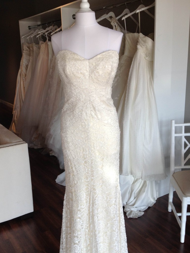 Nicole Miller Wedding Dress, available at Ready or Knot, Rockbrook Village, Omaha, Ne