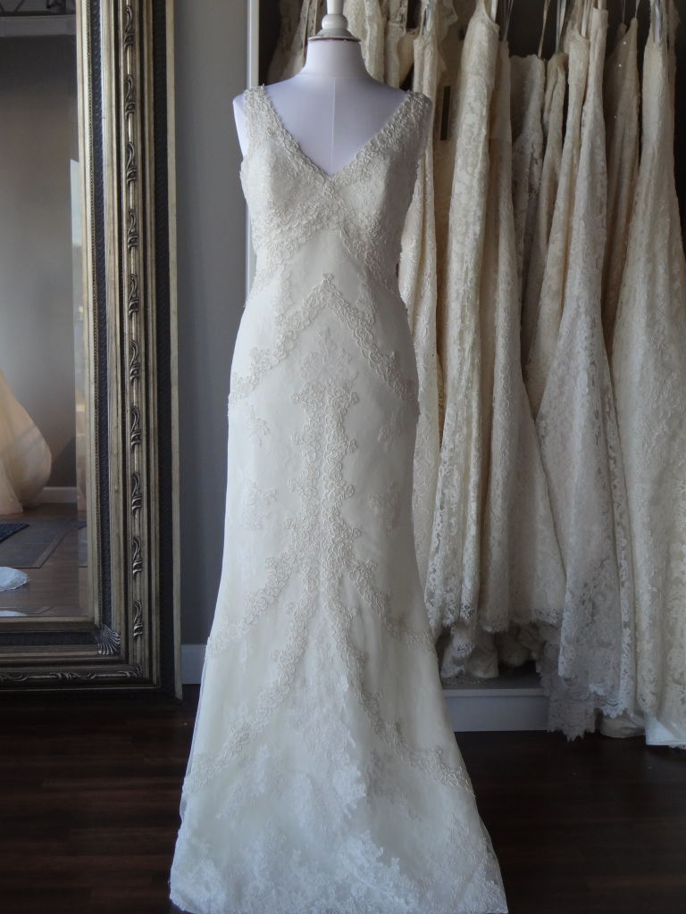 Mufa by La Sposa, available at Ready or Knot Omaha, Ne