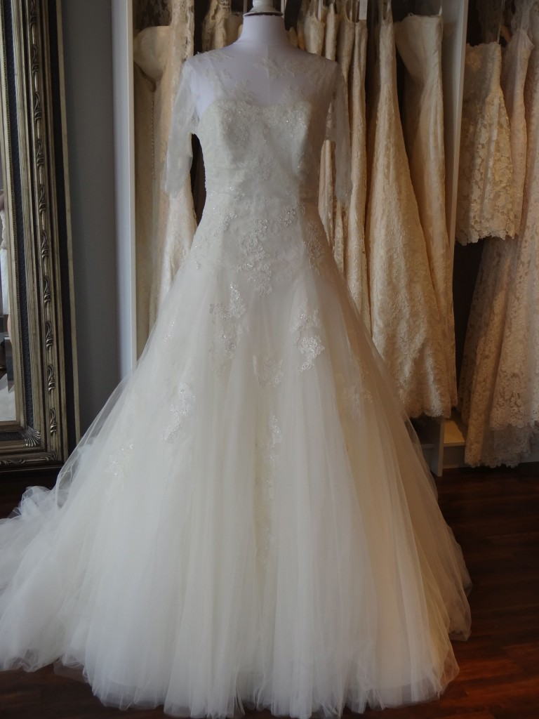 Mimosa from La Sposa, available at Ready or Knot, Rockbrook Village, Omaha Ne