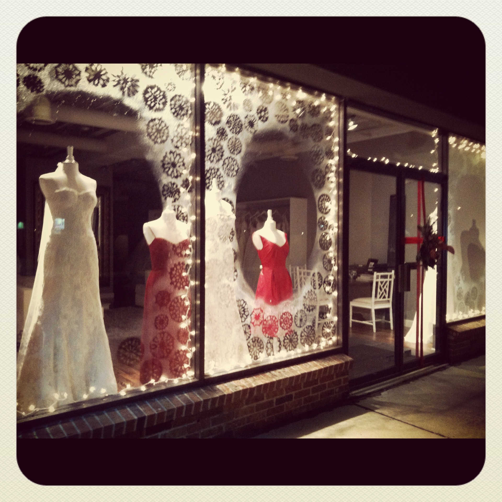 Wedding Gown Display: New Window Display - Winter