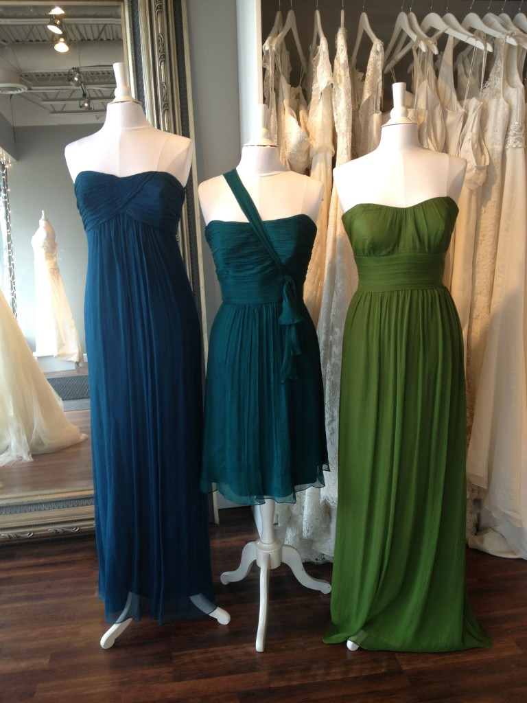 Amsale Bridesmaid Dresses, Grass, Mallard & Pacific, Ready or Knot