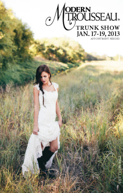 Modern Trousseau Wedding Dress Trunk Show, available at Ready or Knot, Jan. 17-19
