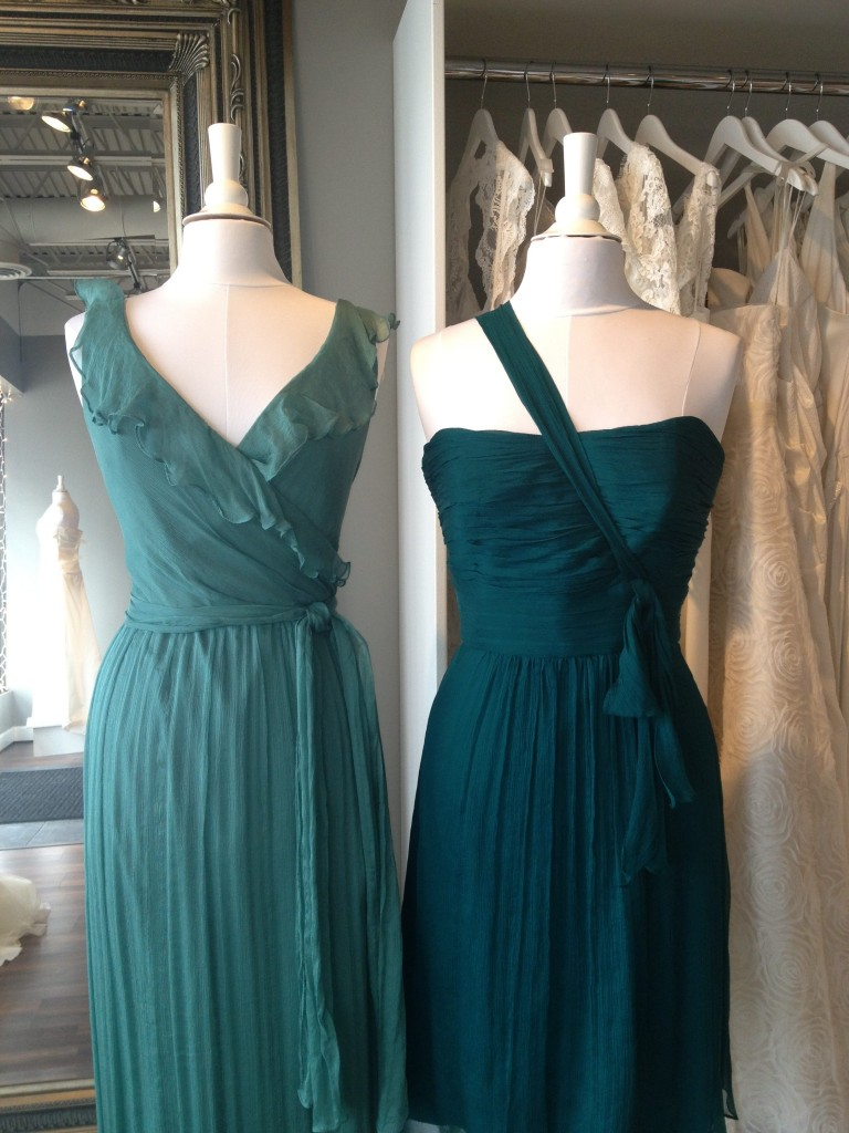 Amsale Bridesmaid Dresses, Mallard &amp; Ocean, Ready or Knot