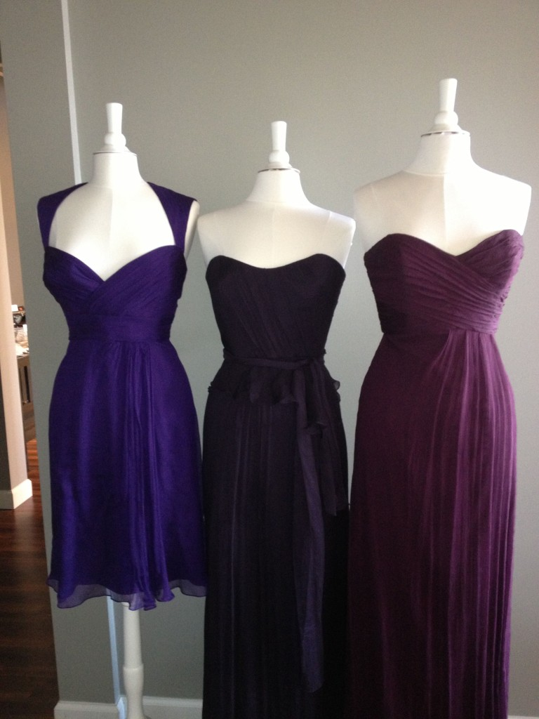Amsale Bridesmaid Dresses, Amethyst, Ink & Aubergine