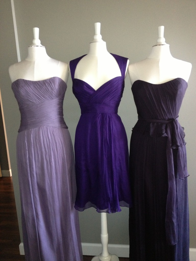 Amsale Bridesmaid Dresses, Violet, Amethyst & Ink