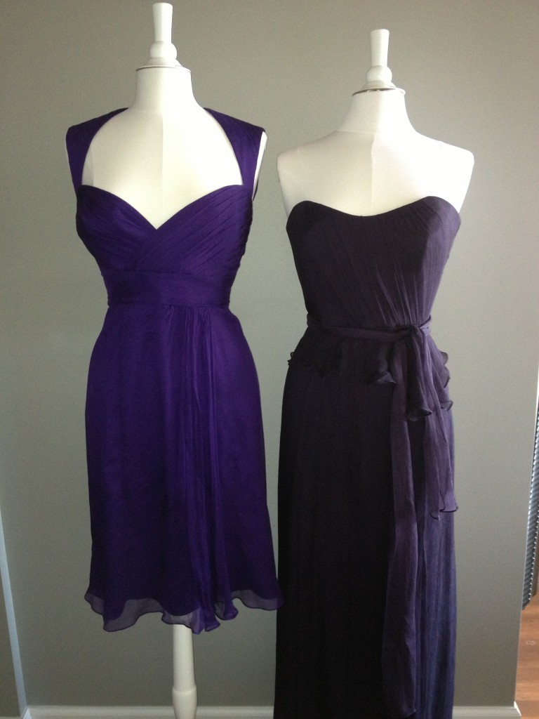 Amsale Bridesmaid Dresses, Amethyst & Ink