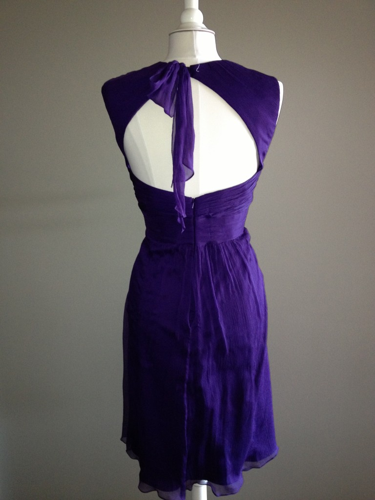 Amsale Bridesmaid Dresses, Amethyst (back)