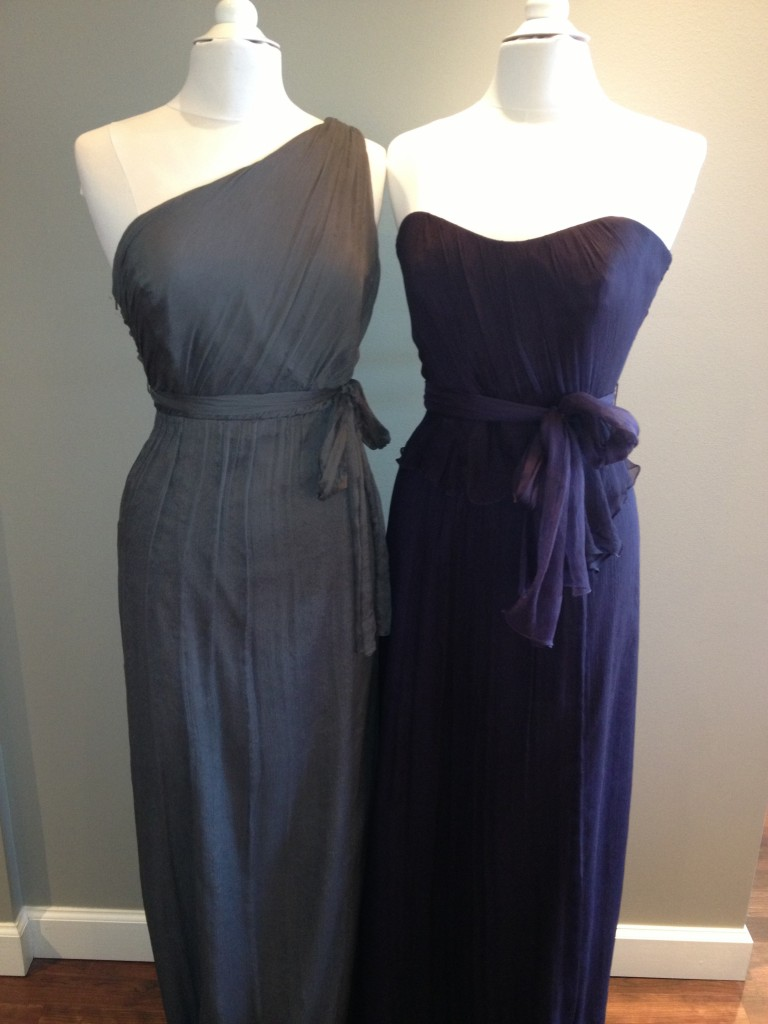 Amsale Bridesmaid Dresses, Charcoal & Ink