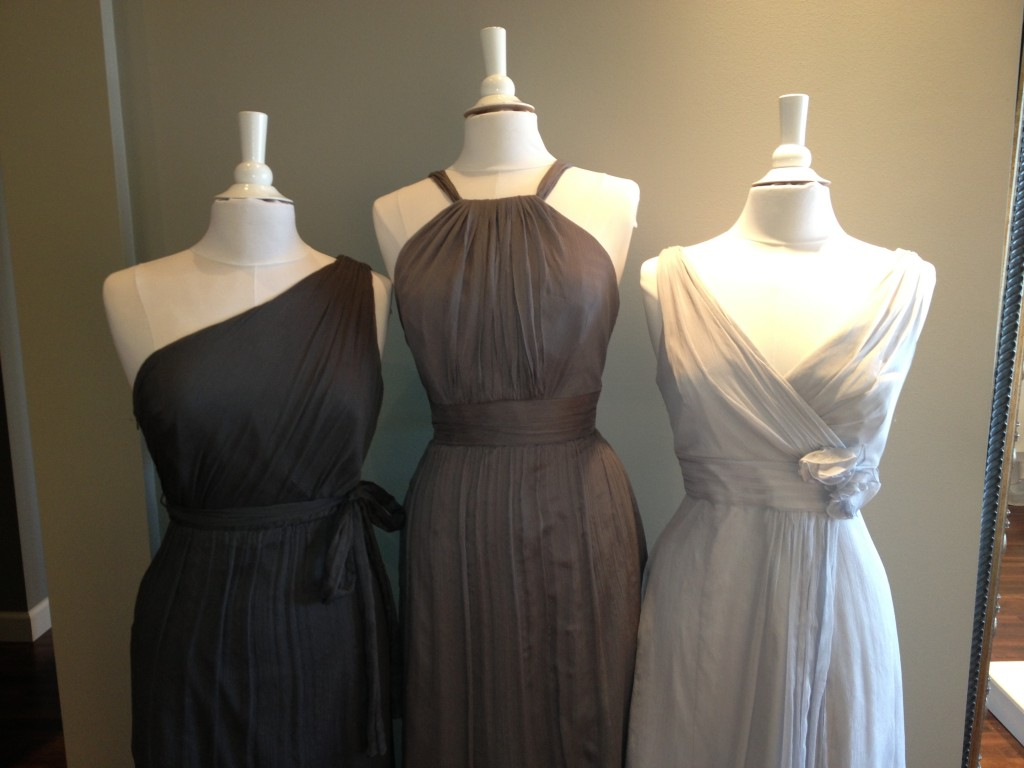 Amsale Bridesmaid Dresses, Charcoal, Graphite & Dove
