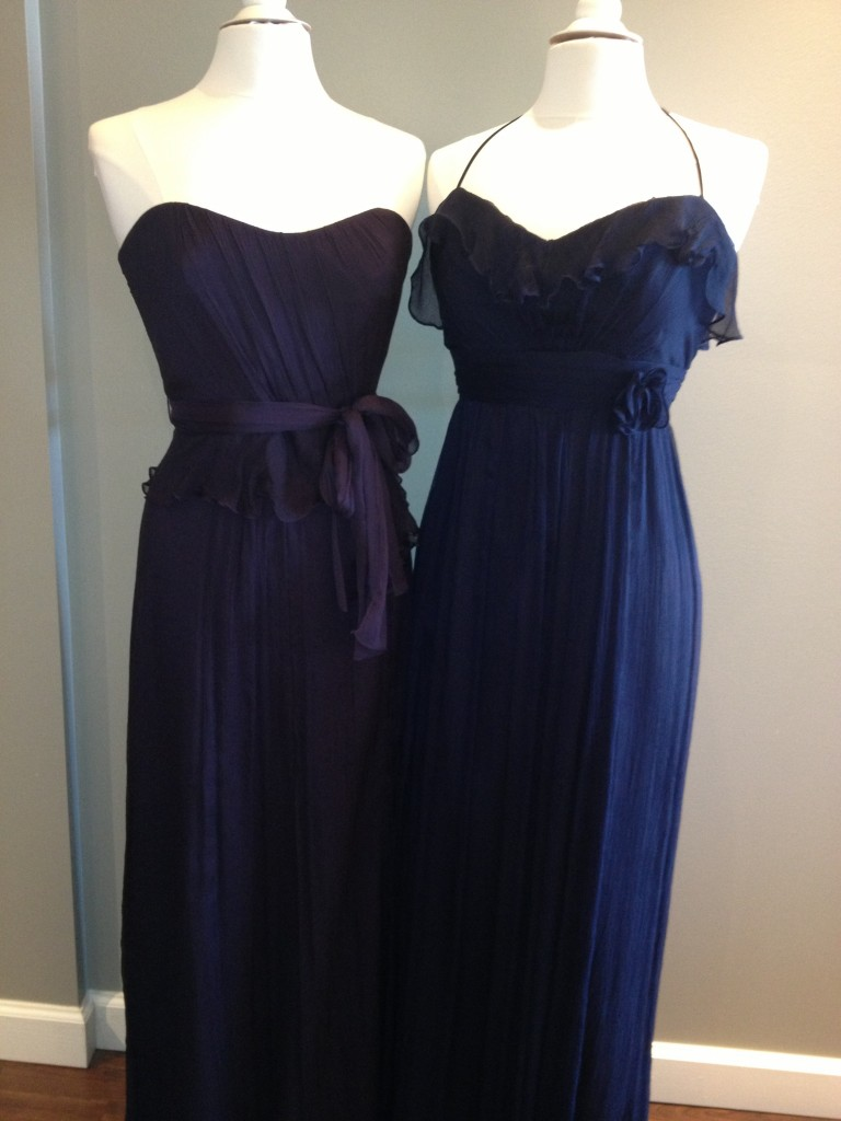 Amsale Bridesmaid Dress, Ink & Navy