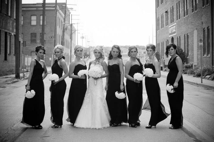 Ready or Knot Bridemaids, Amsale, Black, Ready or Knot