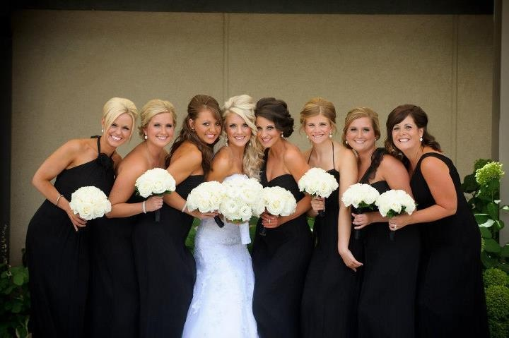 Ready or Knot Bridesmaids, Amsale, Black, Ready or Knot