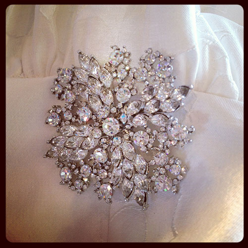 La Sposa Brooch, available at Ready or Knot, Omaha