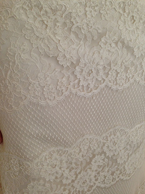Layered lace from Modern Troussea, bridal market