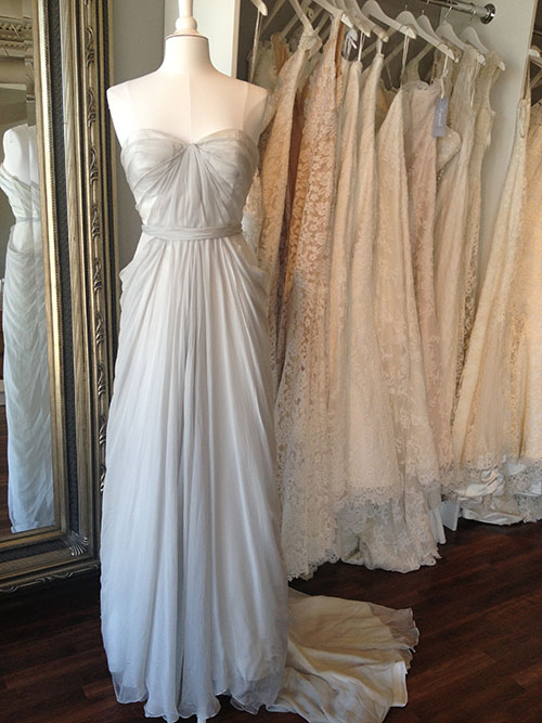 New arrivals ready or knot omaha bridal shop part 2 for Light grey wedding dress