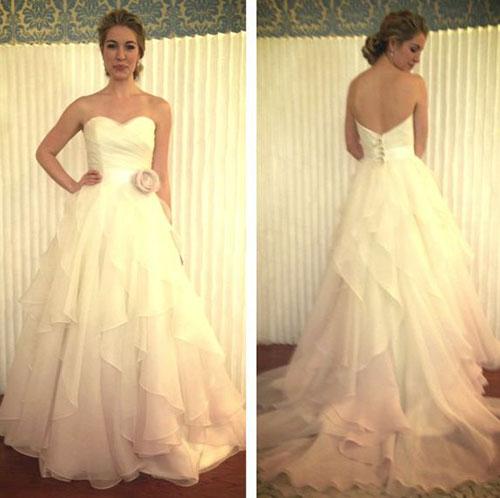 Ombre, organza wedding dress, Modern Trousseau