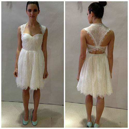 Short dress from Ivy & Aster, bridal market