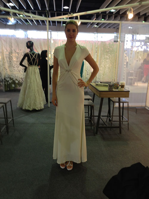 Nicole Miller wedding dress, bridal market
