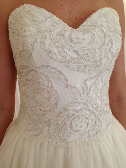 Beaded wedding dress, Modern Trousseau, Callie