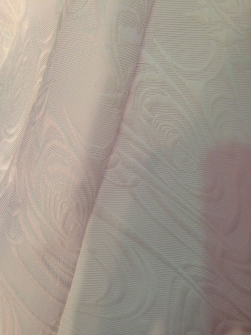 Beautiful textured material from bridal market 2013