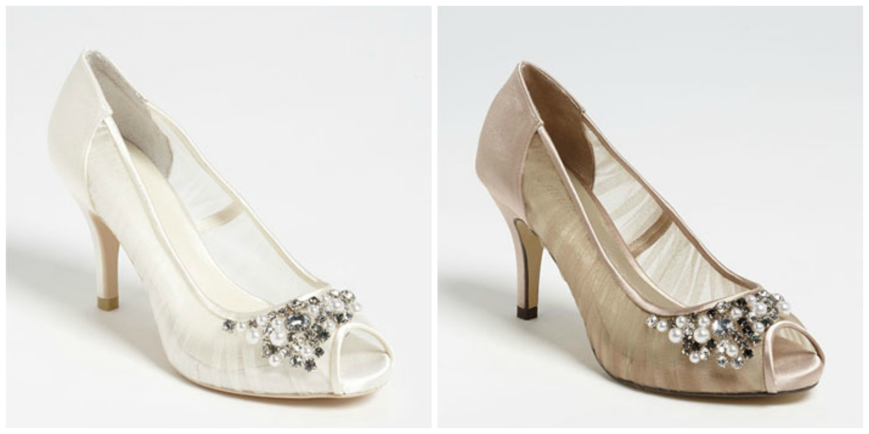 bc23834d6 Wedding Shoe Wednesday. Available in ivory and nude