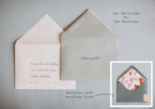 Wedding Stationery Etiquette Ready Or Knot Omaha Bridal About Double Maiing Envelopes