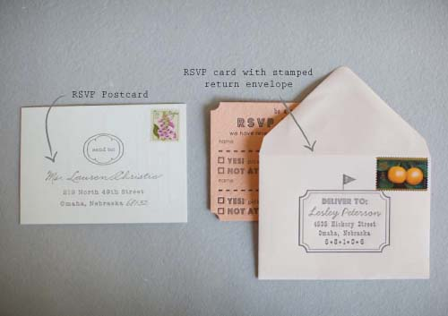 Rsvp Postcard Vs With Addressed Envelope